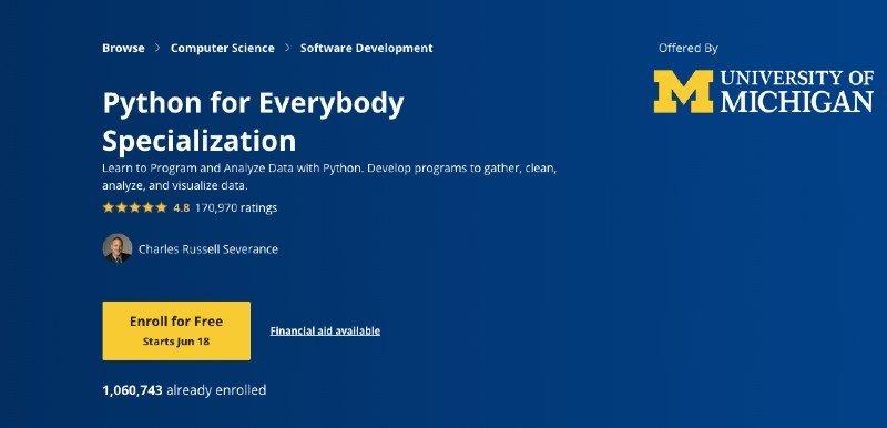 Coursera's Python specialization program