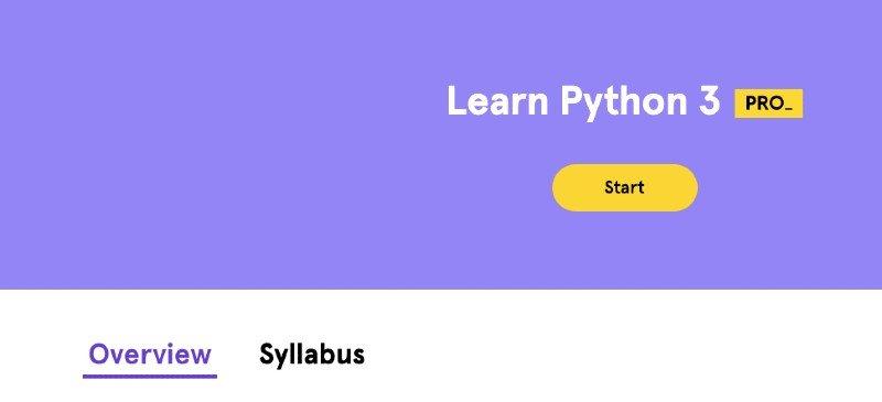Codecademy's Python 3 course