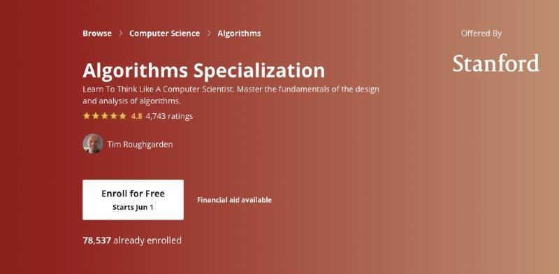 Coursera's advanced algorithms specialization