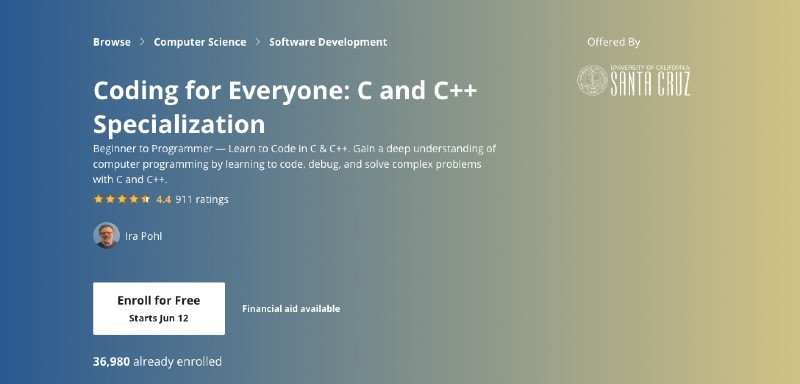 Coursera's C and C++ specialization