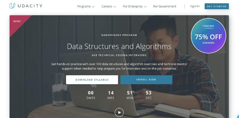 Udacity's online data structure and algorithms courses