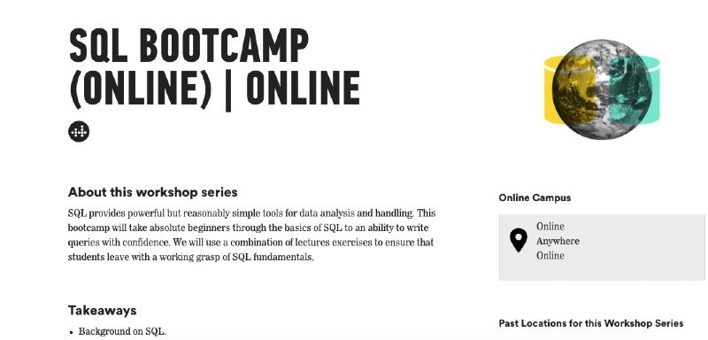 Online SQL bootcamp from General Assembly
