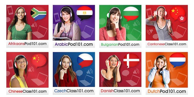 Pod101 Online Language Courses Alphabetical