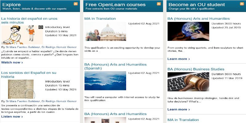 Spanish Language Courses - Open Learn